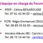 coordonnées carole jankowski pour inscription forum des métiers : 06 73 14 44 54
